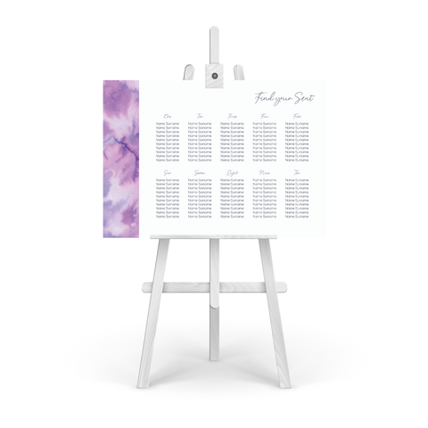 Watercolour Purple Table Plan