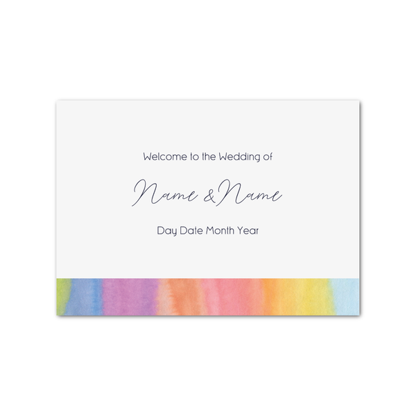 Watercolour Rainbow Welcome Sign