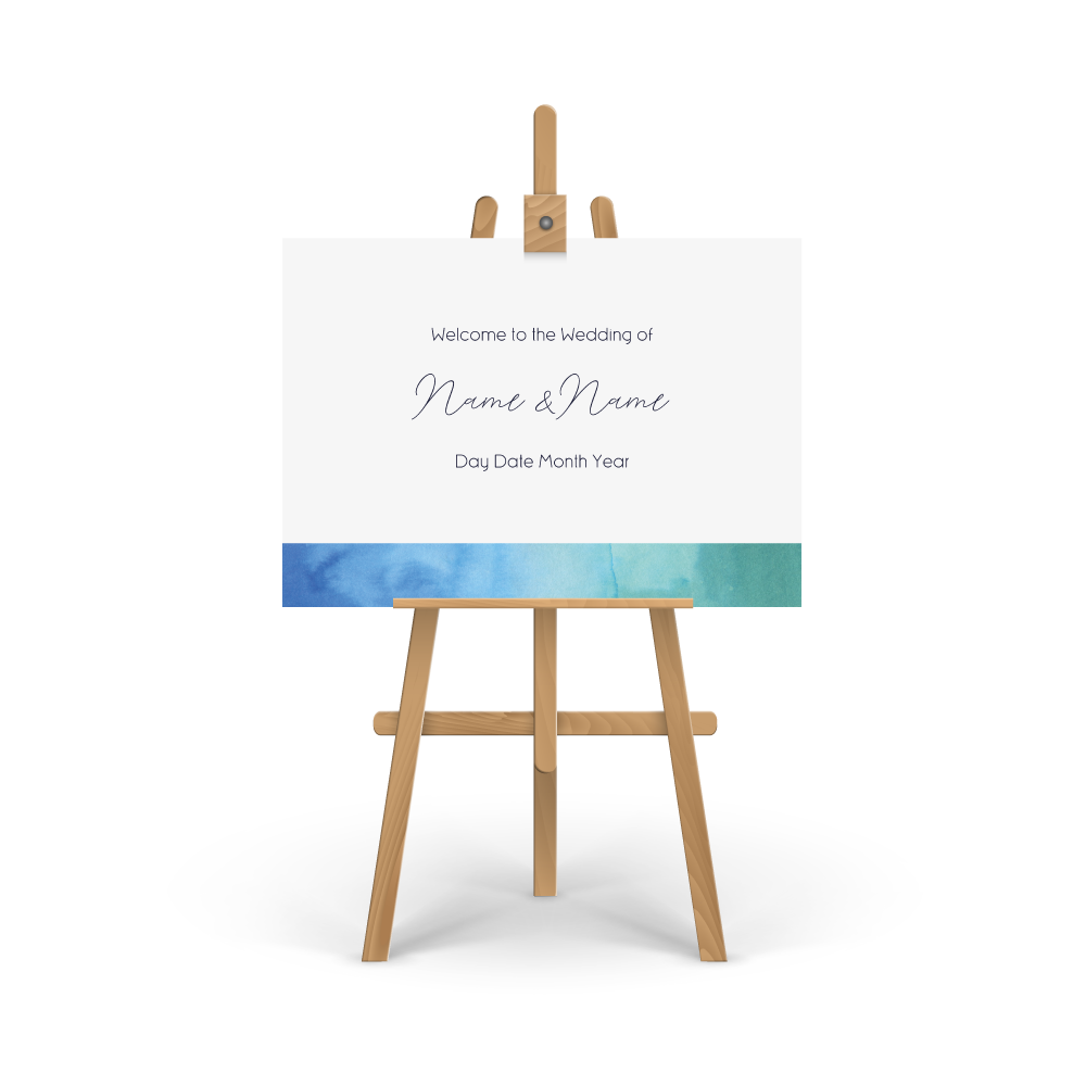 Watercolour Sea Welcome Sign