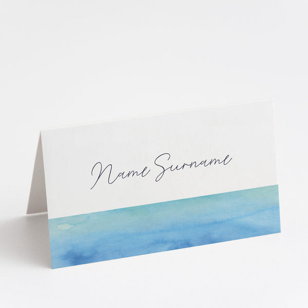 Watercolour Sea Place Cards