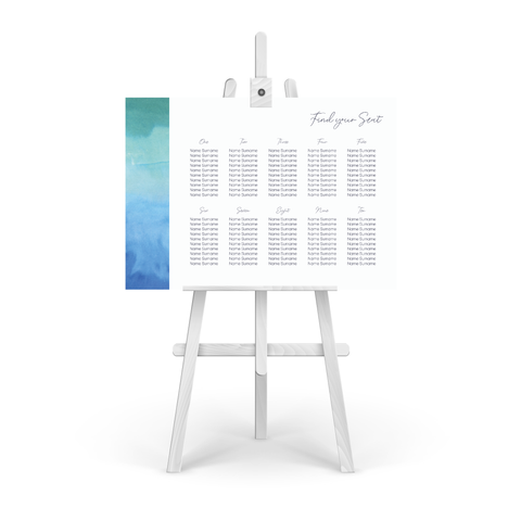 Watercolour Sea Table Plan