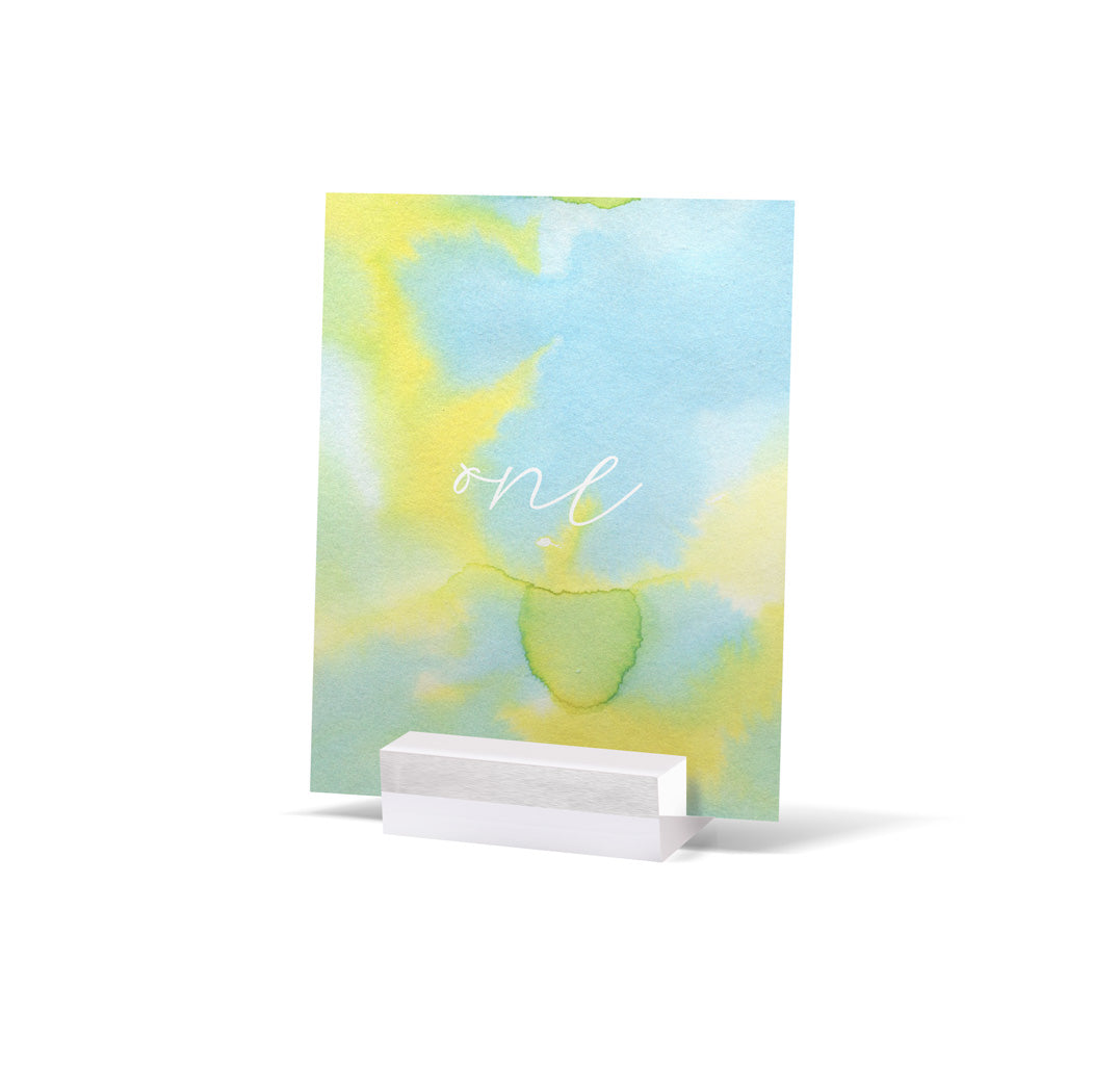 Watercolour Spring Table Numbers