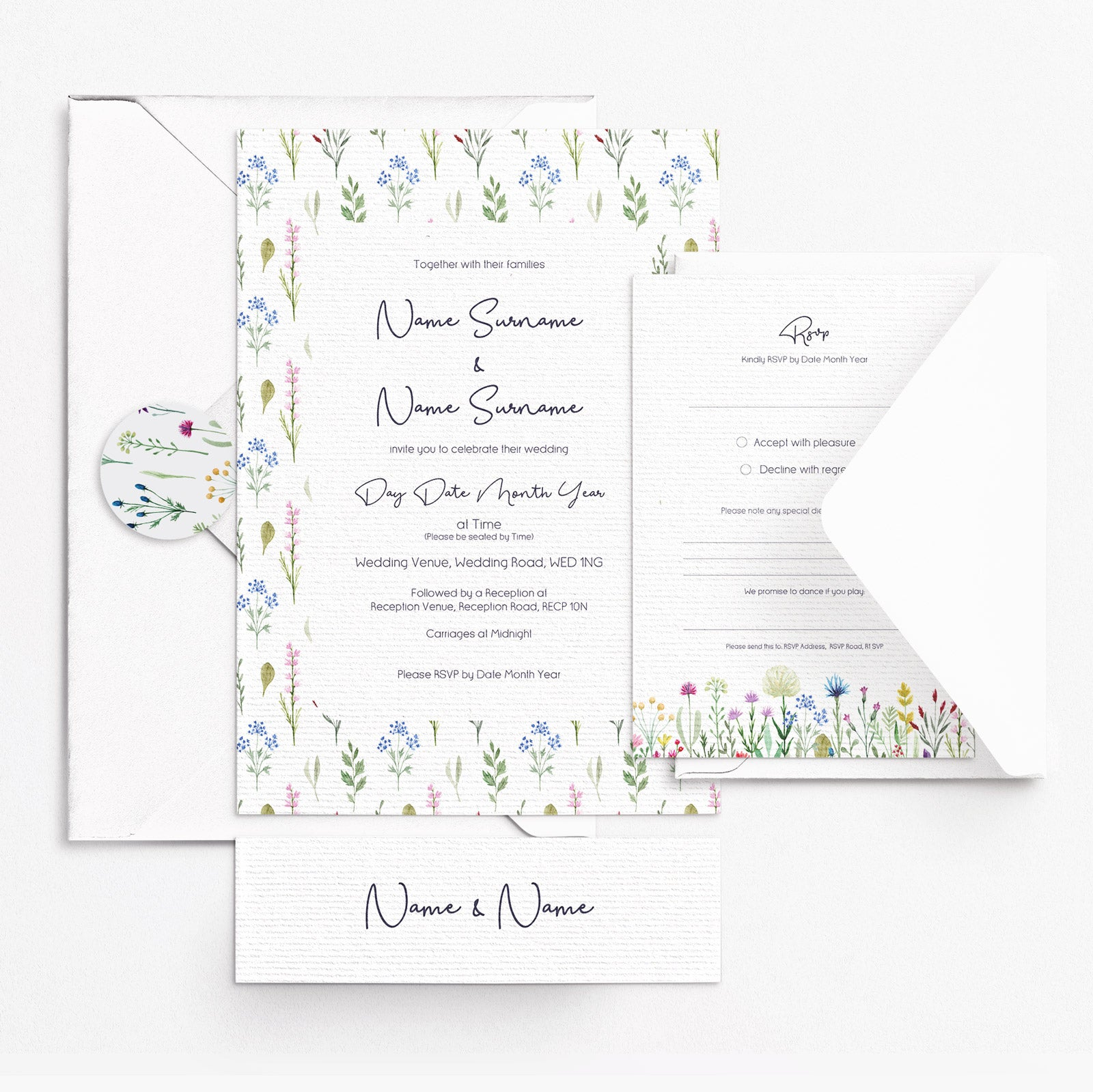 Wildflowers Invitation Set