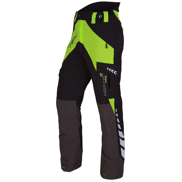 Breatheflex Type A Class 1, 2 and 3 Chainsaw Trousers - Lime
