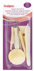 Sculpey Clay Tool Set, 8 pieces #A8PS