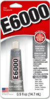 E6000® Glue,CLEAR, Medium Viscosity, .5 ounce tube