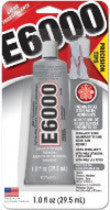 E6000® Glue, CLEAR, Medium Viscosity, 1 ounce tube with precision tips