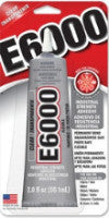 E6000®  Glue, CLEAR, Medium Viscosity, 2 ounce tube