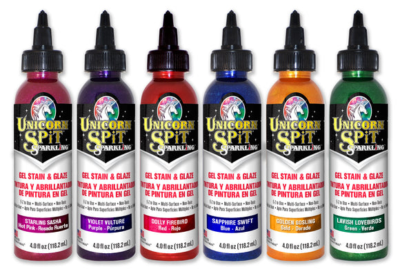 Unicorn Spit Sparkling Color Collection  6 - 4 oz bottles 577COLL4