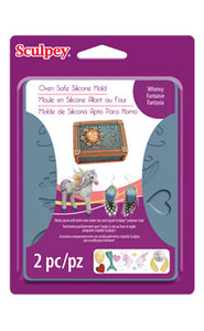 Sculpey Silicone Bakeable Mold, WHIMSY  #APM 66