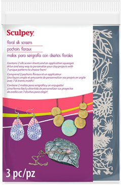 Sculpey Floral Silk Screens #AS2003