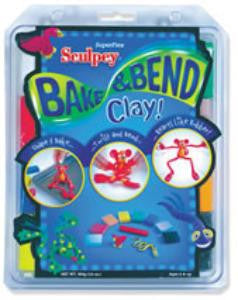 Sculpey Superflex Bake & Bend Set, 8 - 2 oz. bars FX4004