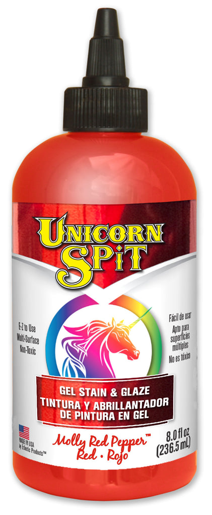 UNICORN SPIT, Molly Red Pepper, 8 oz bottle.