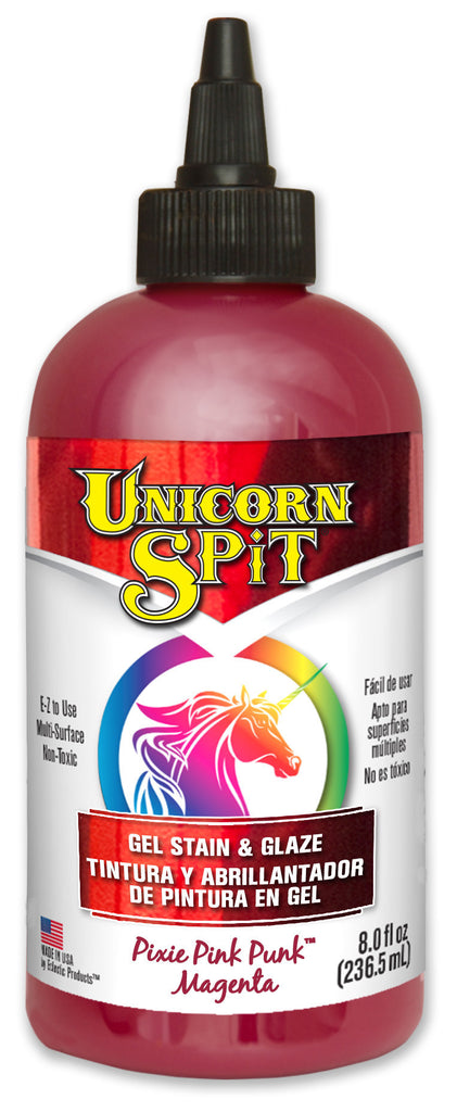 UNICORN SPIT, Pixie Punk Pink, 8 oz bottle.