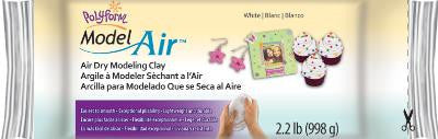 Model Air, Air Dry Modeling Clay, White, 2.2 pounds AD2222