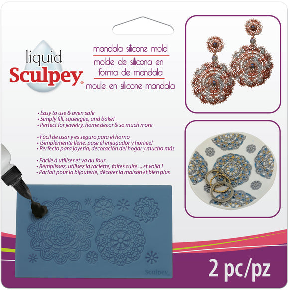 Sculpey Mandala Silicone Bakeable Mold #APM49