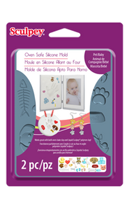 Sculpey Silicone Bakeable Mold, Pet/Baby #APM 65