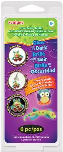 Sculpey Glow in the Dark Kit, 6 - 1oz bars #K3-6110