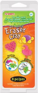 Sculpey Amazing Eraser Clay Kit, 6 - 1 ounce blocks #K3 6130