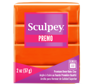 Premo Sculpey® Clay Orange, 2 ounce bar. PE02 5033