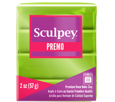 Premo Sculpey®Accents Clay Bright Green Pearl, 2 oz bar. PE02 5035
