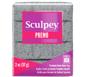 Premo Sculpey® Accents Clay Gray Granite, 2 oz bar, PE02 5065