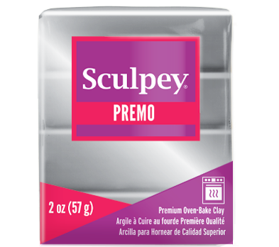 Premo Sculpey® Accents Clay Silver, 2 ounce bar, PE02 5129