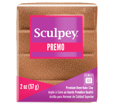 Premo Sculpey® Accents Clay Rose Gold Glitter, 2 oz bar, PE02 5135