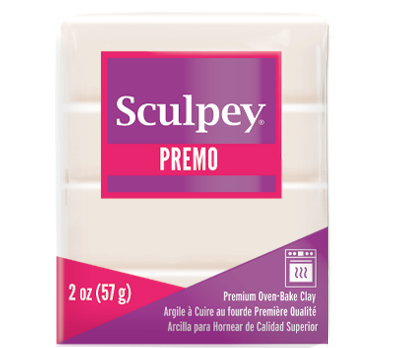 Premo Sculpey® Accents Clay White Translucent, 2 oz bar, PE02 5527