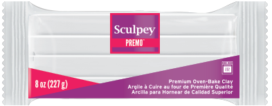 Premo Sculpey! White, 8 oz blocks, PE08 5001