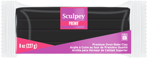 Premo Sculpey! Black, 8 oz blocks, PE08 5042