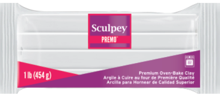 Premo Sculpey® Accents, White, 1 Pound Bar, PE1 5001,