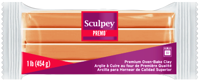 Premo Sculpey! Clay Beige, 1 lb bar, PE1 5092