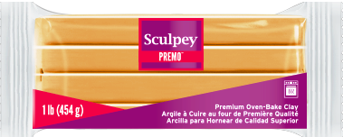 Premo Sculpey Clay Ecru 1 Pound Bar, PE1 5093