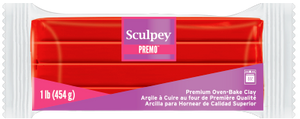Premo Sculpey! Clay Cadmium Red Hue, 1 Pound Bar, PE1 5382