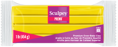 Premo Sculpey! Cadmium Yellow Hue, 1 Pound Bar, PE1 5572