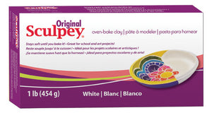 Sculpey Original White, 1 Pound  #S01