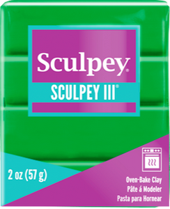Sculpey III Polymer Clay, Emerald, 2 oz bar, S302 323