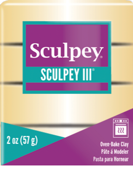 Sculpey III Polymer Clay, Jewelry Gold, 2 oz bar. S302 1132