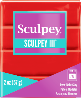 Sculpey III Polymer Clay Poppy 2 oz bar S302 1137