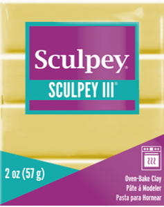 Sculpey III Polymer Clay, Lemonade, 2 oz bar. S302 1150