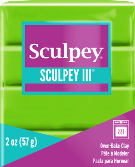 Sculpey III Polymer Clay, Granny Smith, 2 oz bar. S302 1629