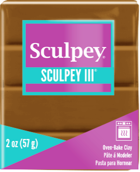 Sculpey III Polymer Clay,  Hazelnut, 2 oz bar.   S302 1657