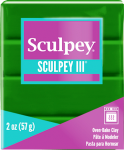Sculpey III Polymer Clay, Leaf Green, 2 oz bar, S302 322