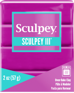Sculpey III Polymer Clay,  Violet, 2 oz bar.  S302 515