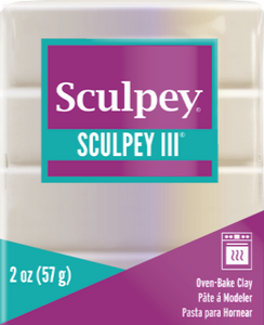Sculpey III Polymer Clay, Pearl, 2 oz bar.  S302 1101