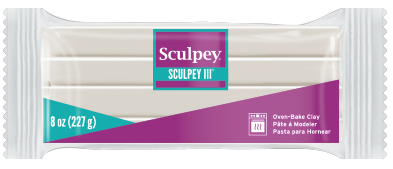Sculpey® III,  8oz Block Translucent  S308 010