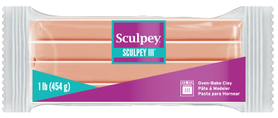 Sculpey III, Beige, 1 pound bar S31 093