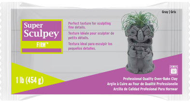 Super Sculpey Firm Gray, 1 pound  SS1SCULPT