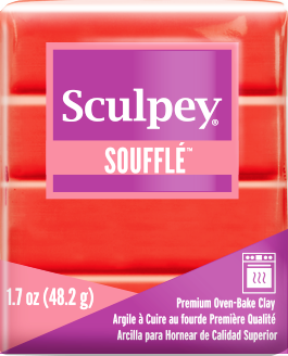 Sculpey Souffle Mandarin, 1.7 ounce SU 6009 New Color